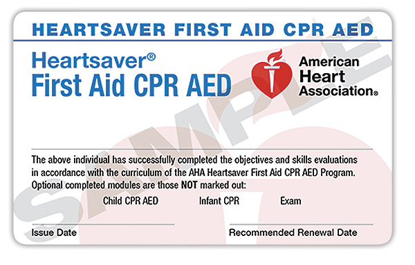 1 local cpr and first aid certification [register online]