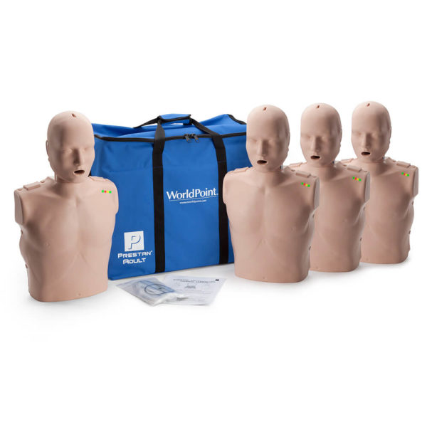 Prestan® Professional Adult Manikin with CPR Monitor - Medium Skin - 4 Pack