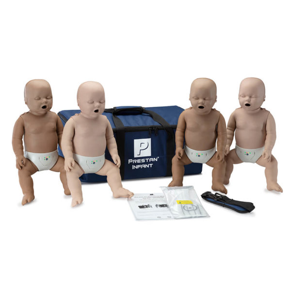 Prestan® Professional Infant Diversity Kit CPR Training Manikins with CPR Monitor - 4 Pack